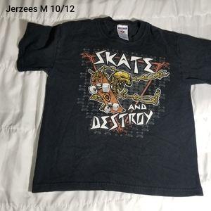 Skate and Destroy tee shirt sz med 10/12